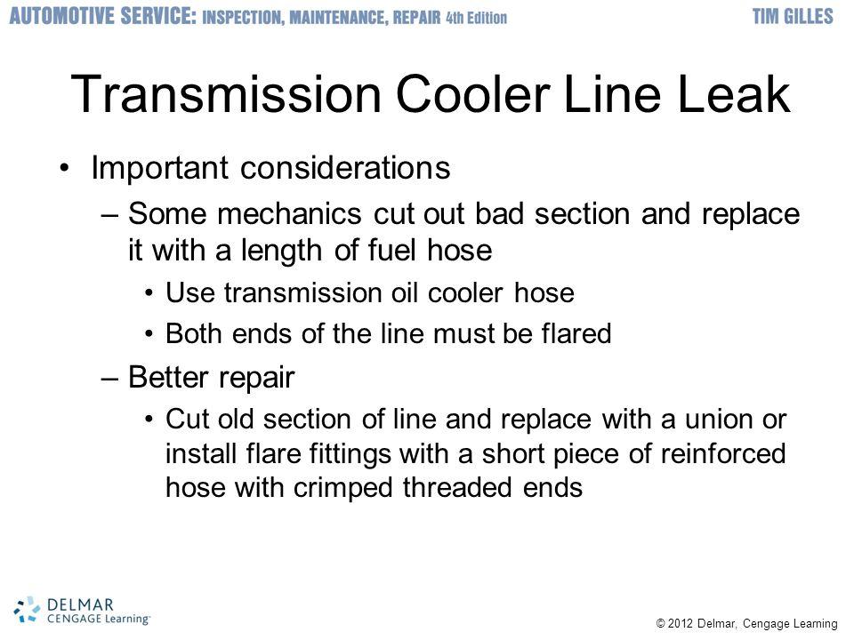 Transmission Cooler Line Leak