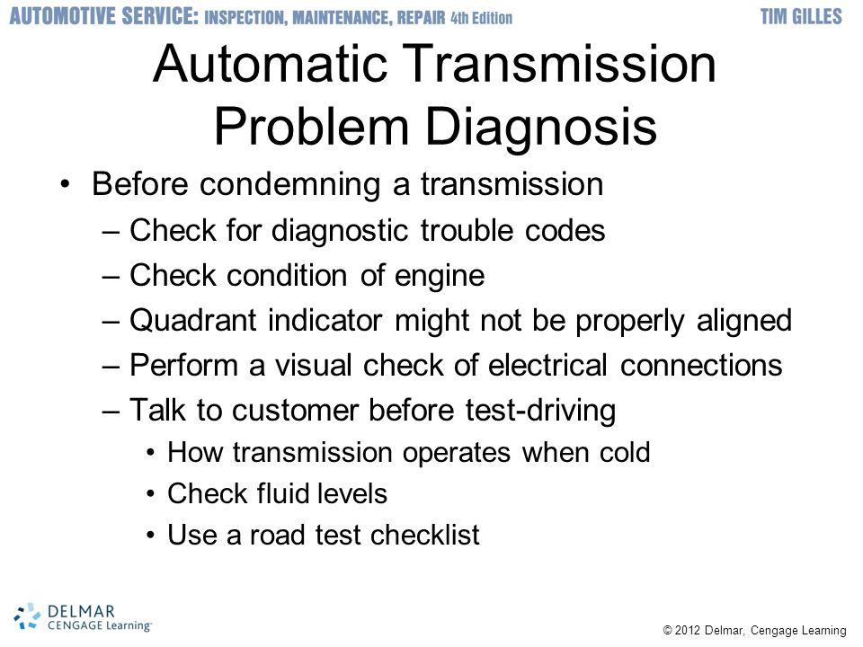 Automatic Transmission Problem Diagnosis