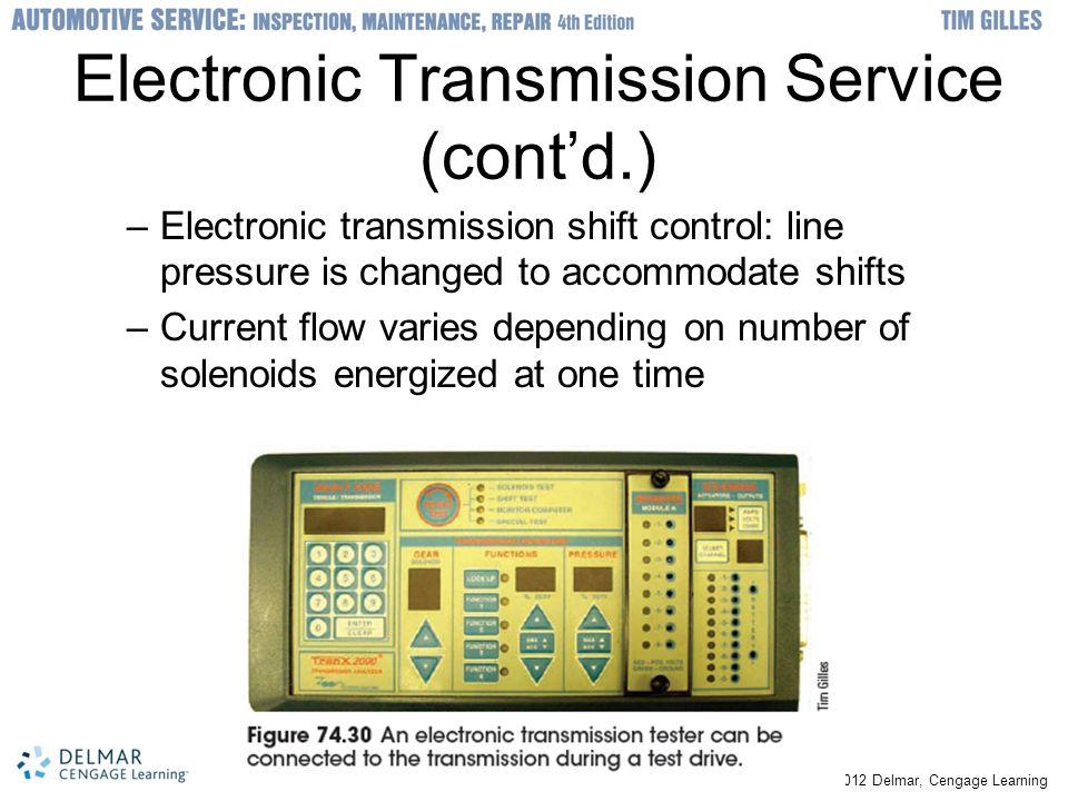 Electronic Transmission Service (cont'd.)