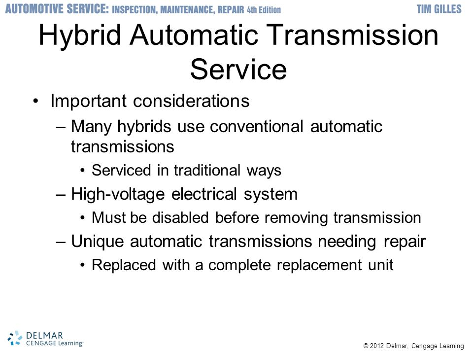 Hybrid Automatic Transmission Service