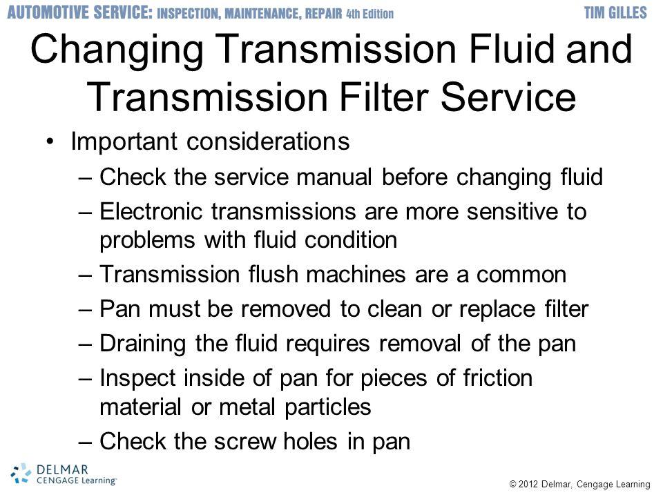 Changing Transmission Fluid and Transmission Filter Service