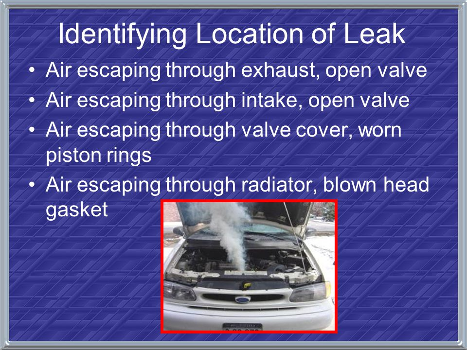 Identifying Location of Leak