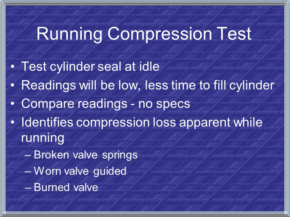 Running Compression Test