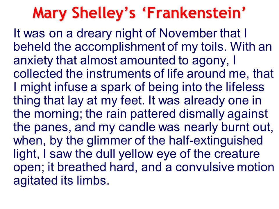 Mary Shelley's 'Frankenstein'