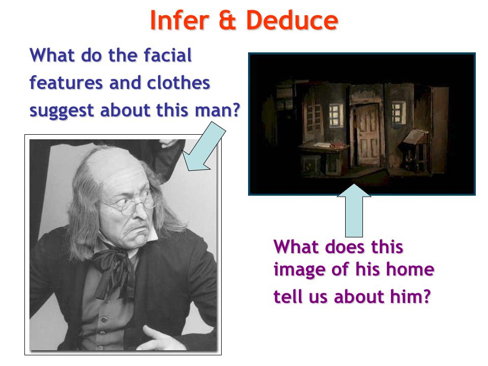 Infer & Deduce What do the facial features and clothes