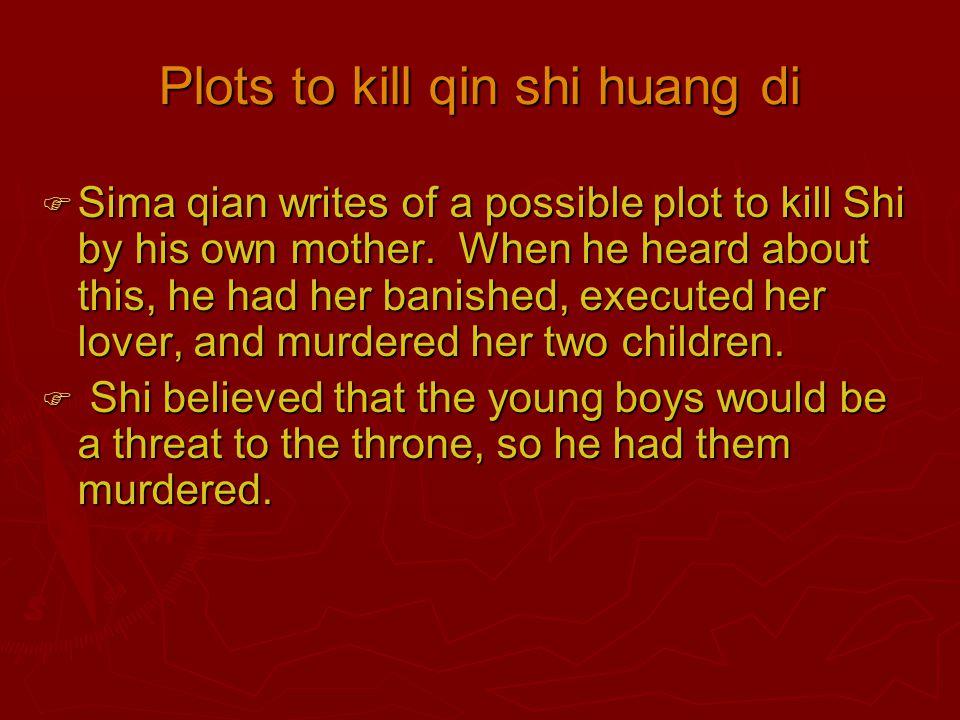 Plots to kill qin shi huang di