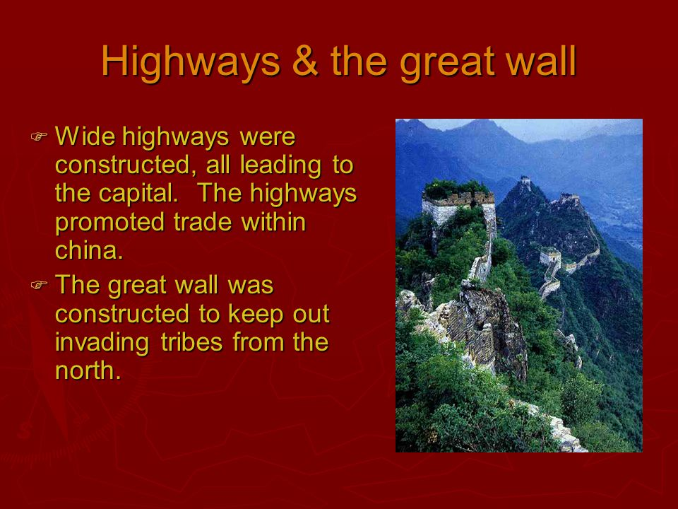 Highways & the great wall