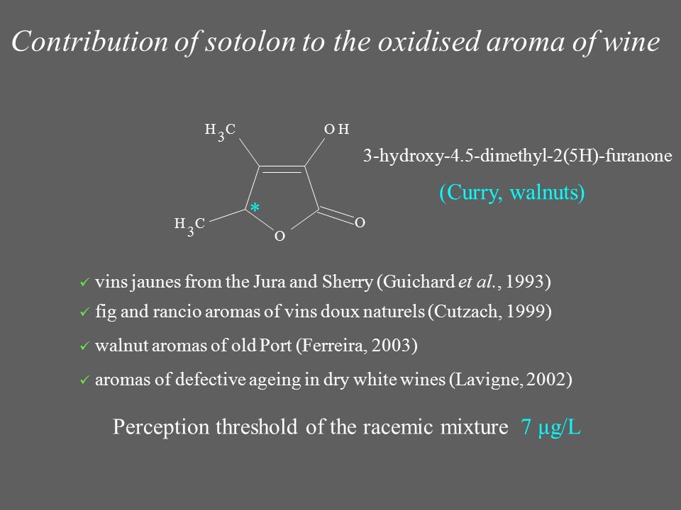 Contribution of sotolon to the oxidised aroma of wine