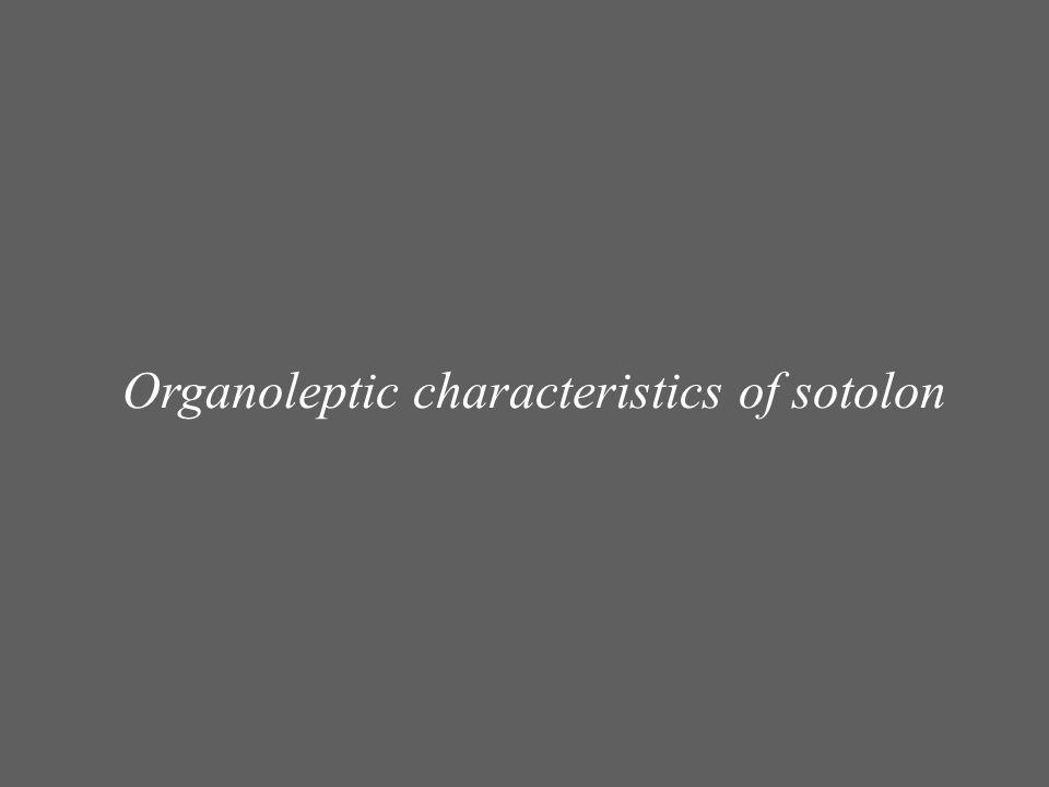Organoleptic characteristics of sotolon