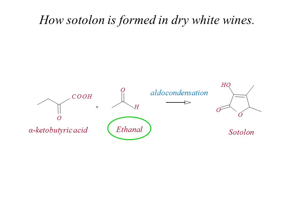 How sotolon is formed in dry white wines.