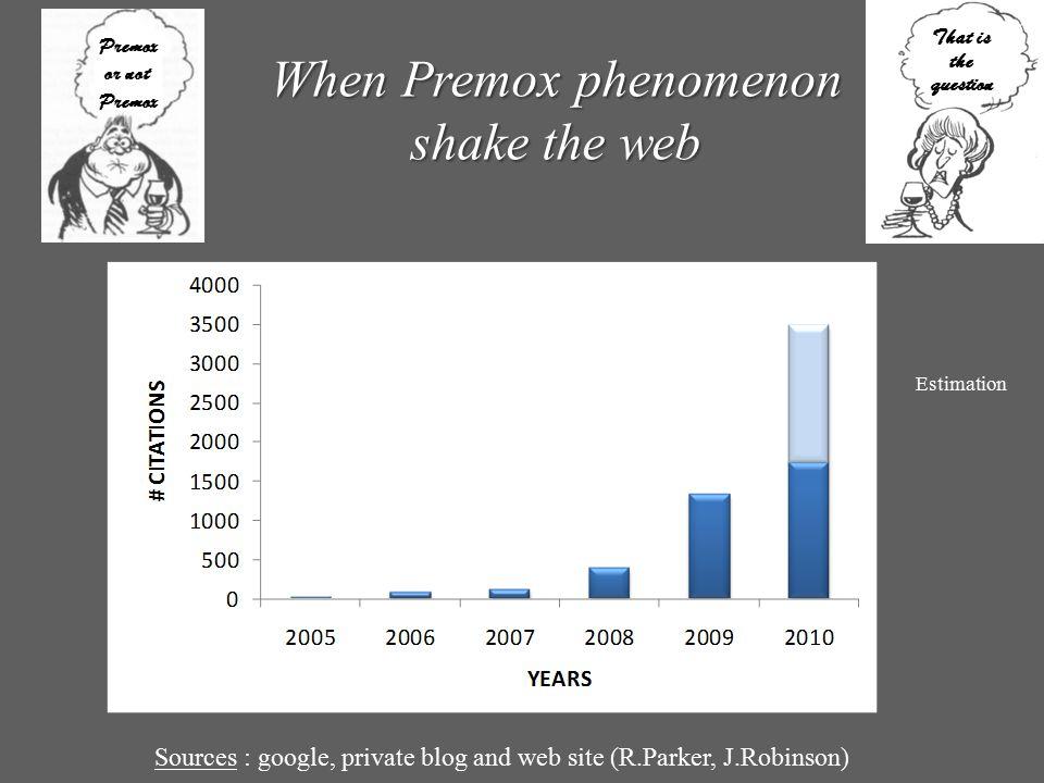 When Premox phenomenon shake the web