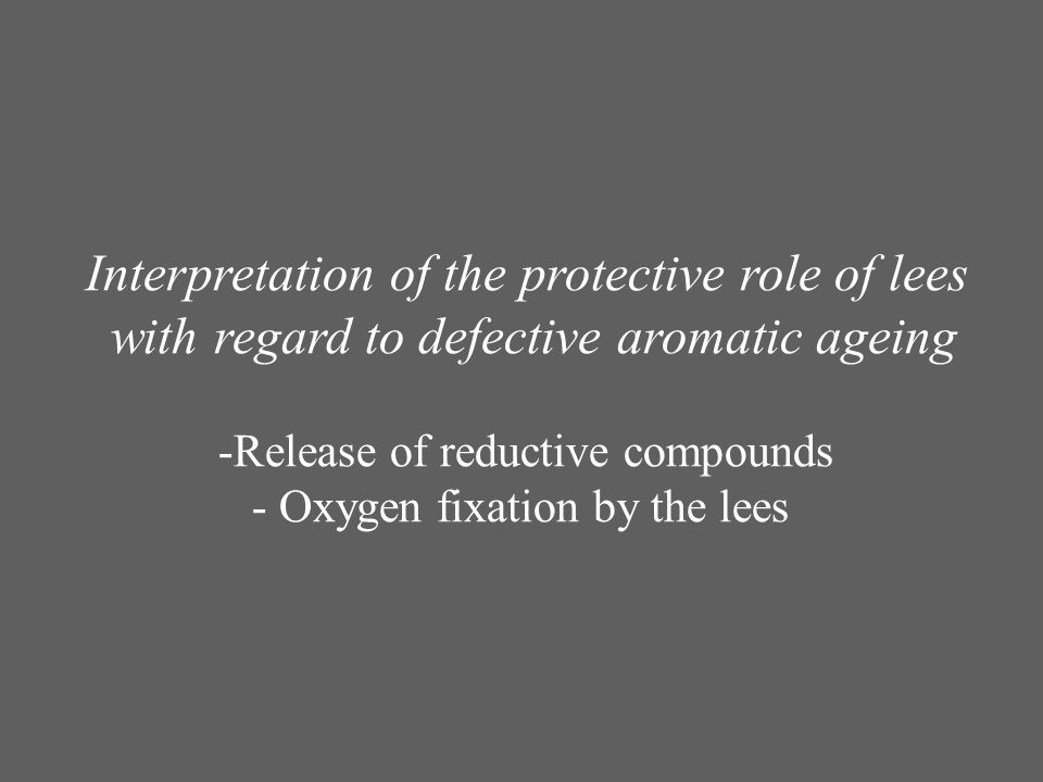 Interpretation of the protective role of lees