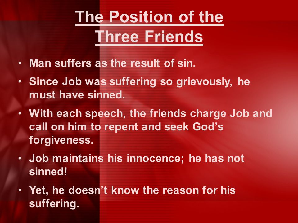 The Position of the Three Friends