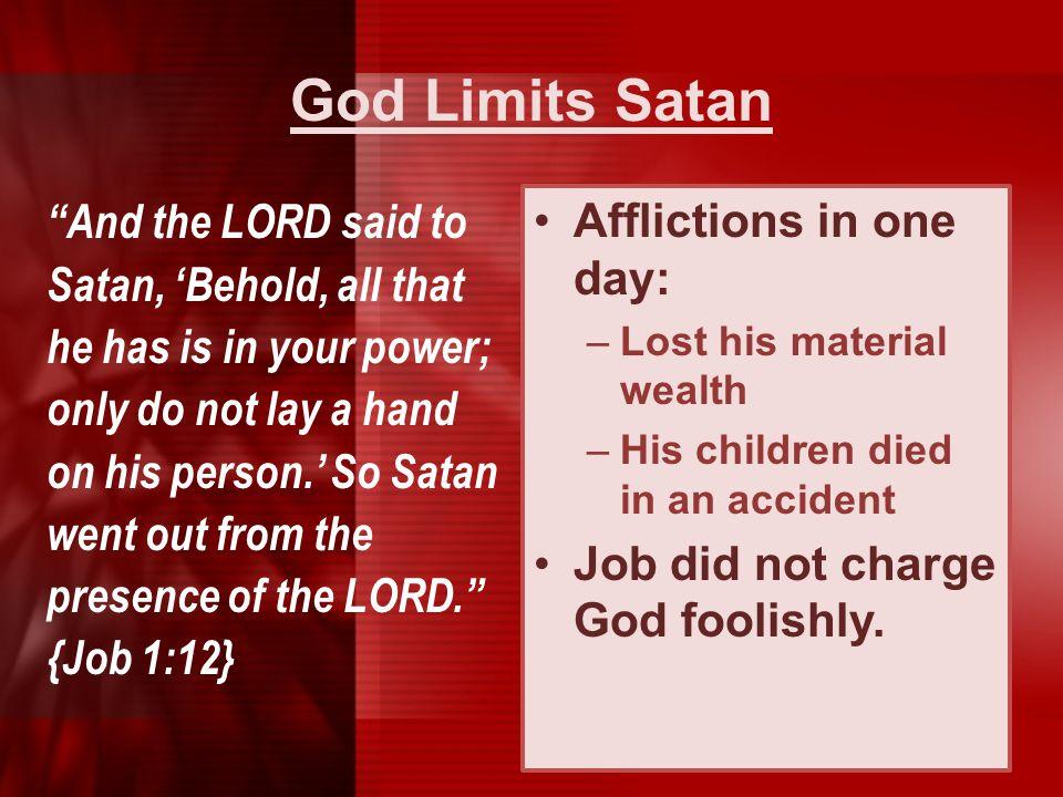 God Limits Satan