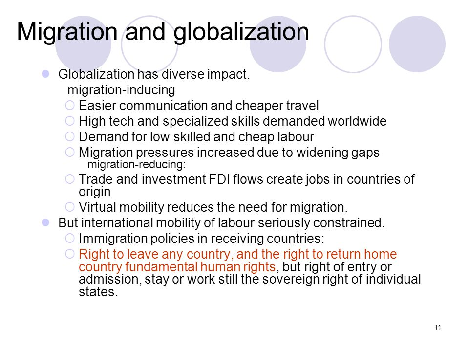 Migration and globalization