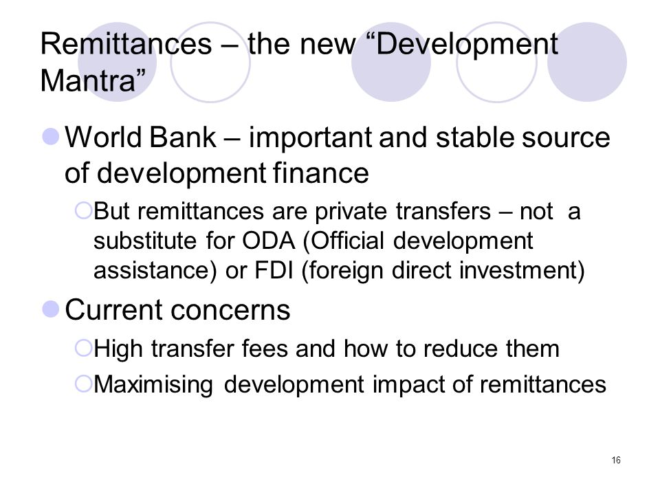 Remittances – the new Development Mantra