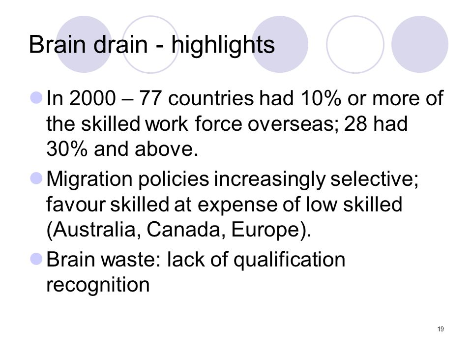 Brain drain - highlights