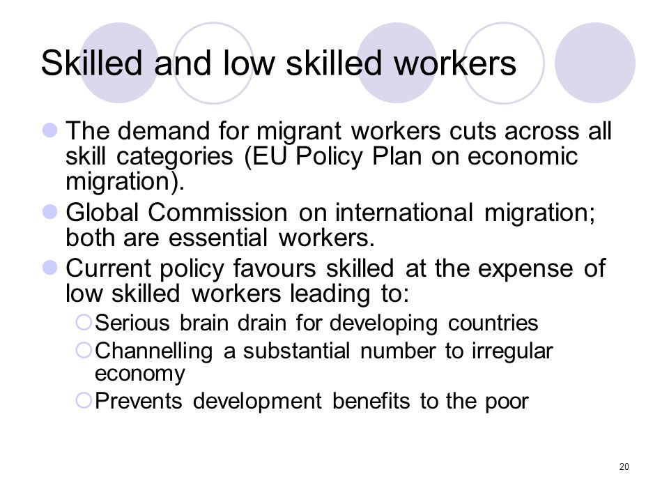Skilled and low skilled workers