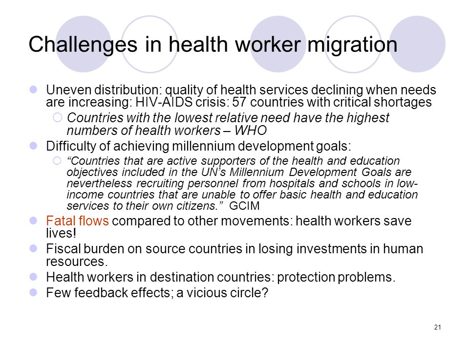 Challenges in health worker migration