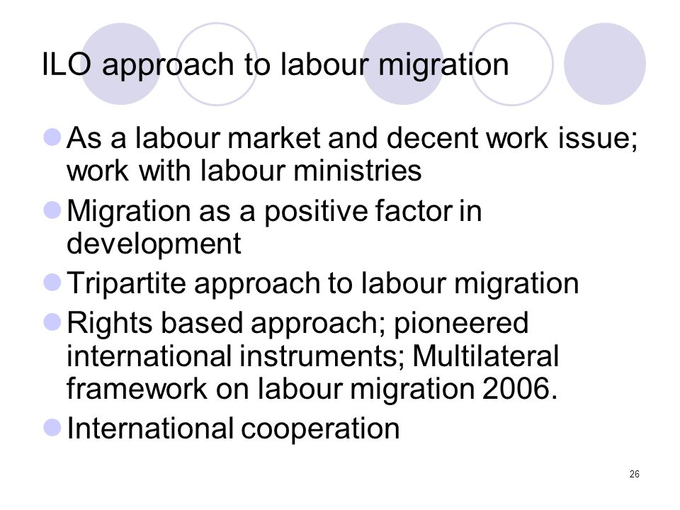 ILO approach to labour migration