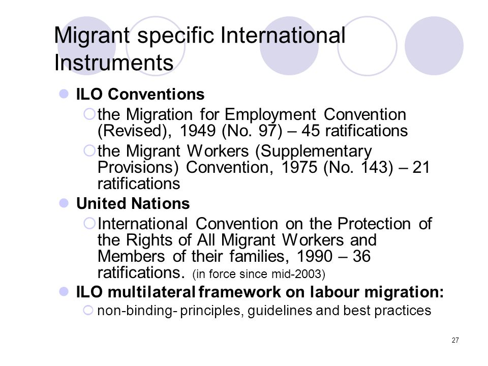Migrant specific International Instruments