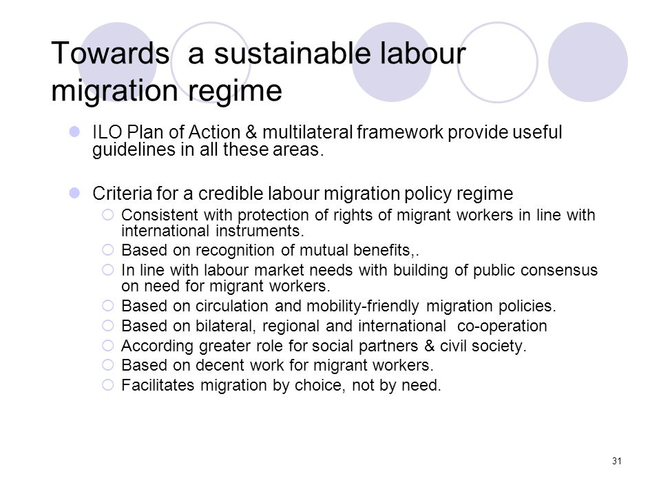 Towards a sustainable labour migration regime