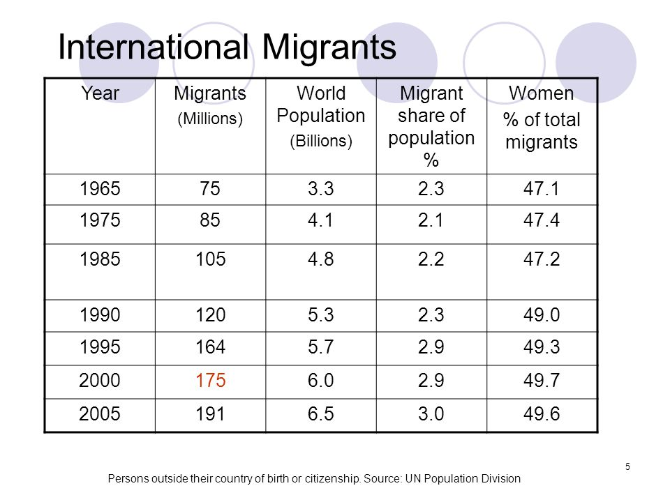 International Migrants