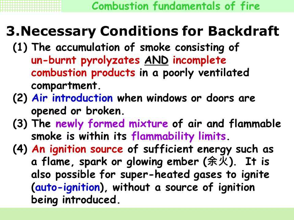 3.Necessary Conditions for Backdraft