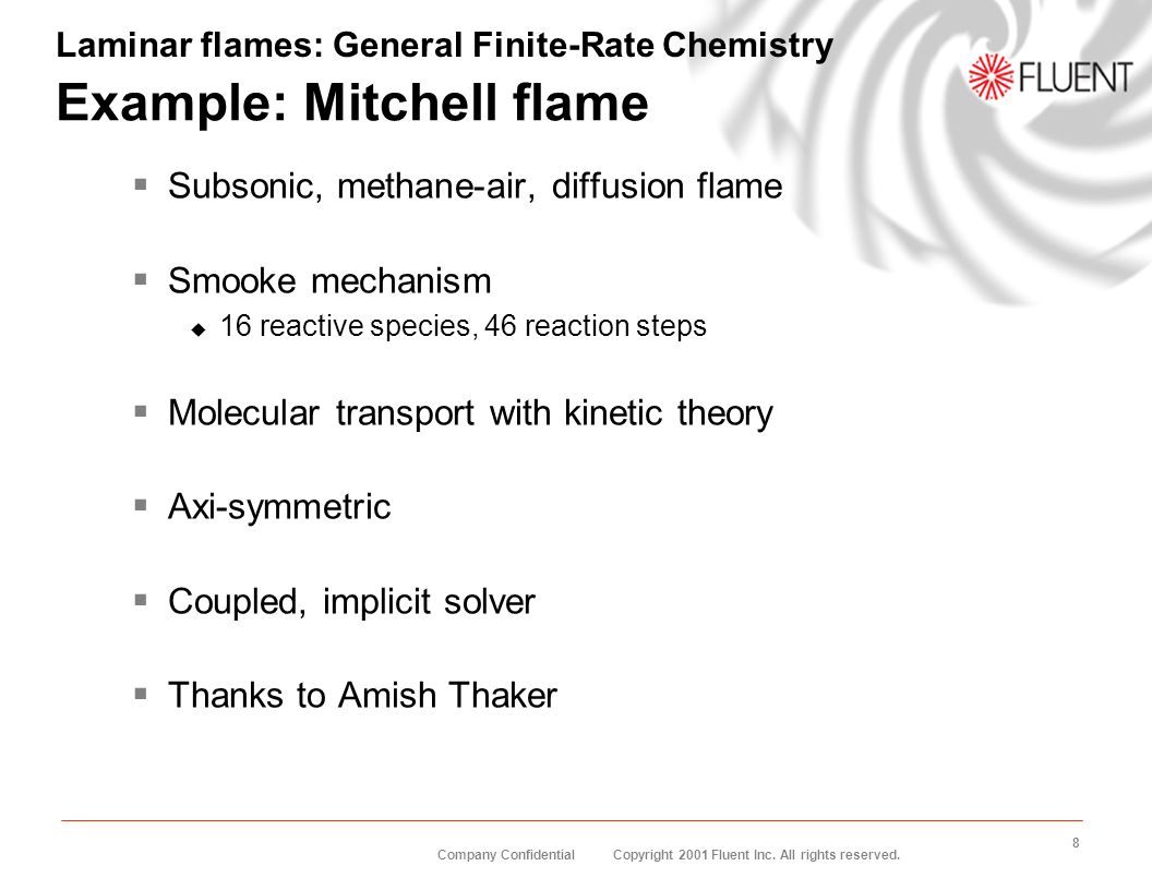 Example: Mitchell flame