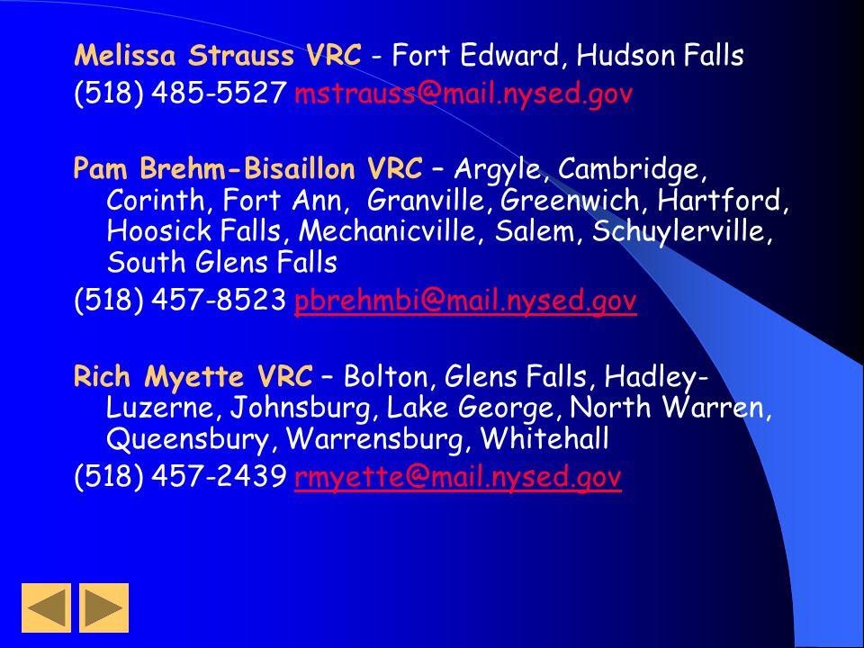 Melissa Strauss VRC - Fort Edward, Hudson Falls