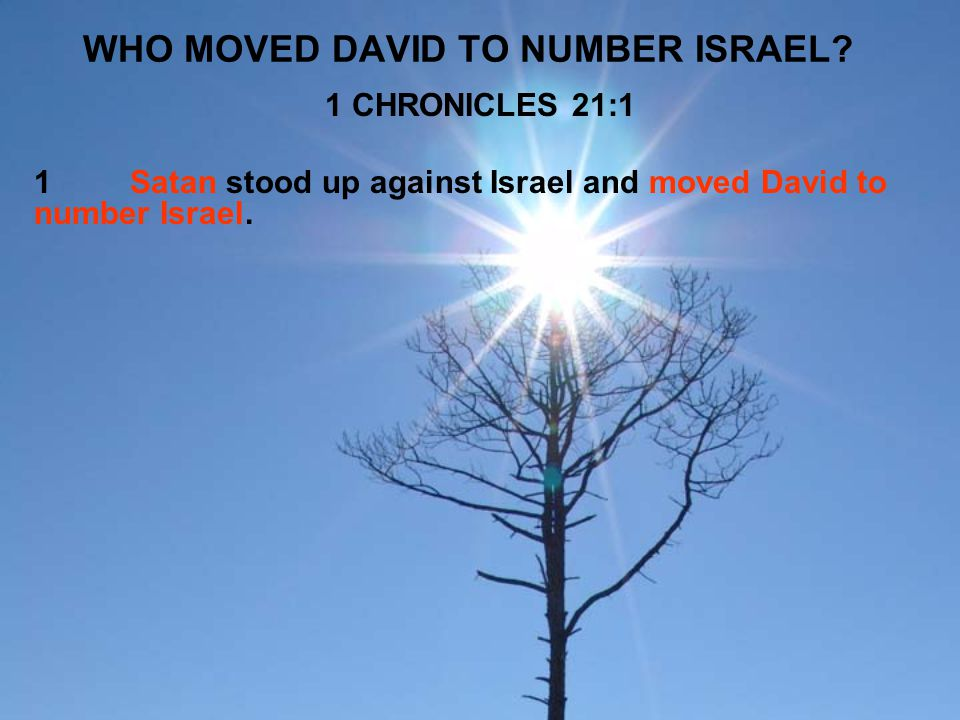WHO MOVED DAVID TO NUMBER ISRAEL