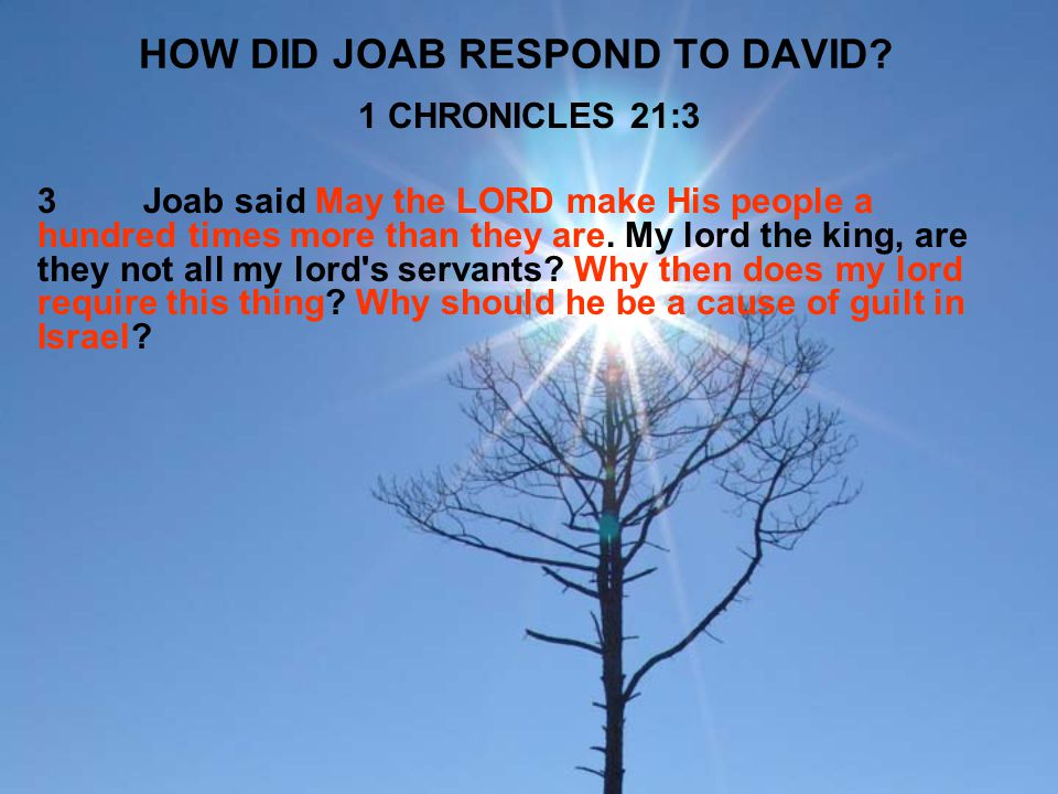 HOW DID JOAB RESPOND TO DAVID