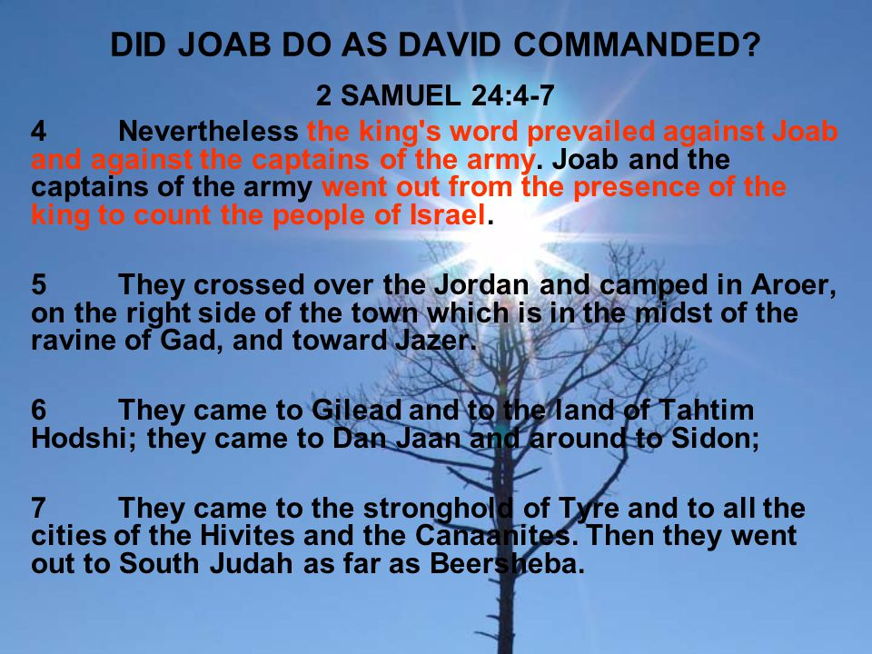 DID JOAB DO AS DAVID COMMANDED