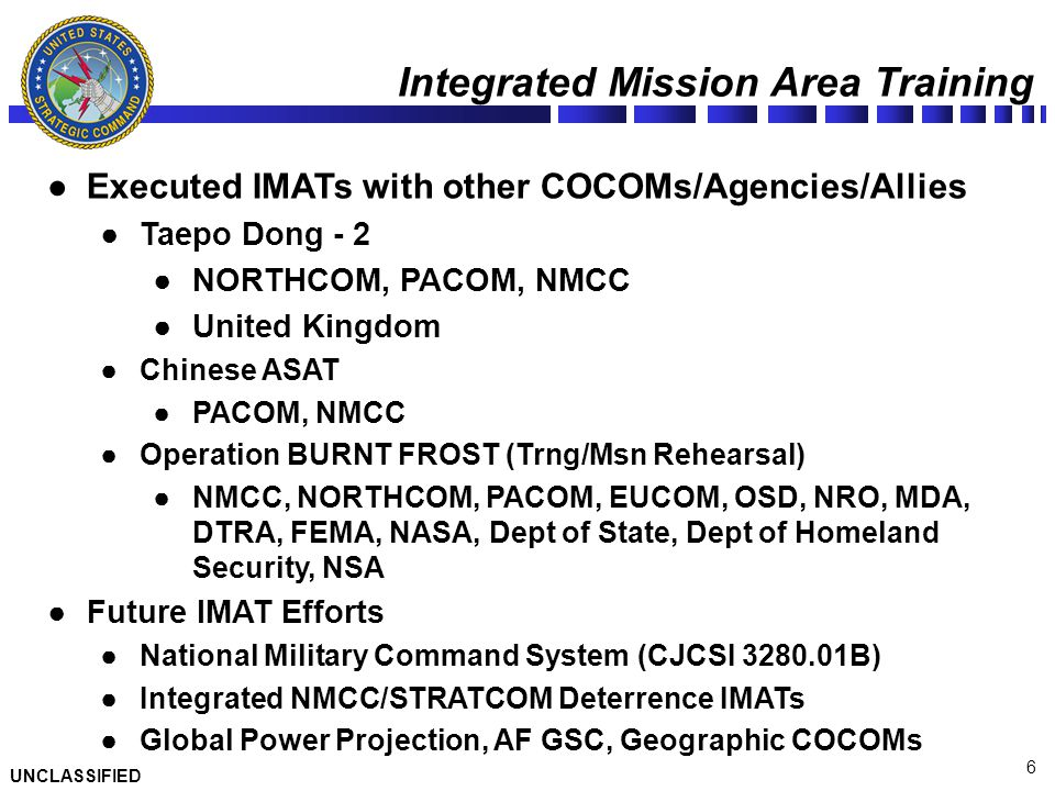 Integrated Mission Area Training