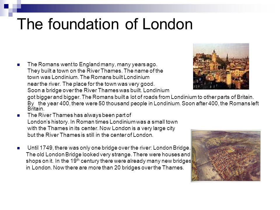The foundation of London