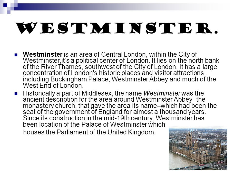 Westminster.