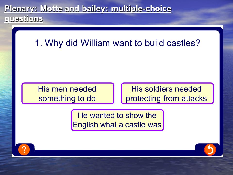 Plenary: Motte and bailey: multiple-choice questions