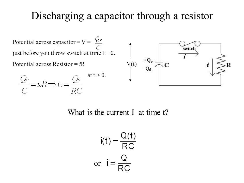Discharging a capacitor through a resistor