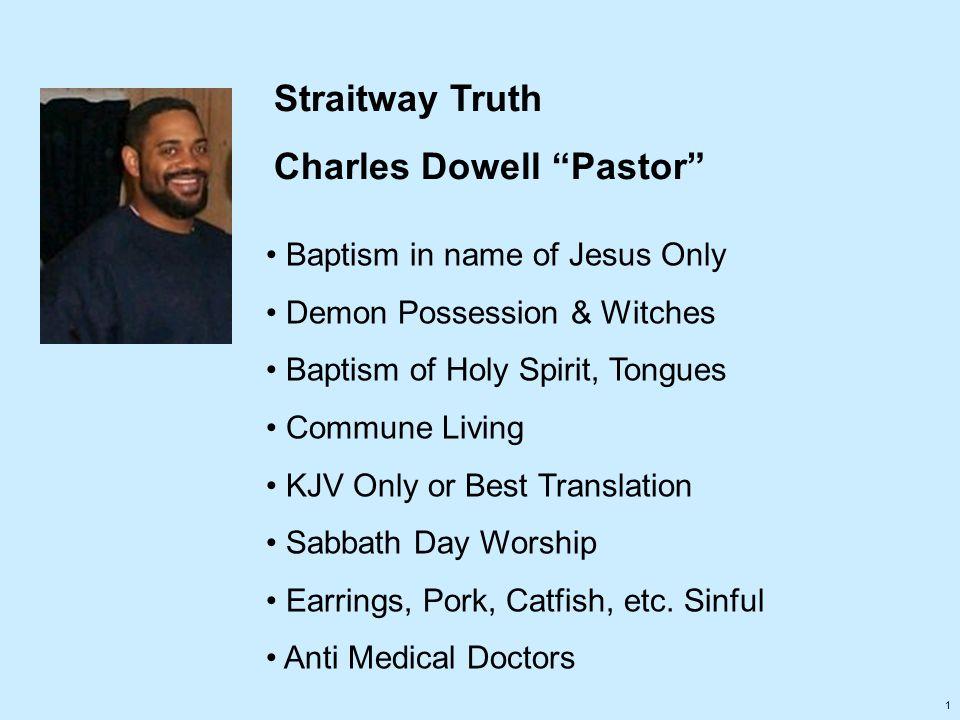 Charles Dowell Pastor