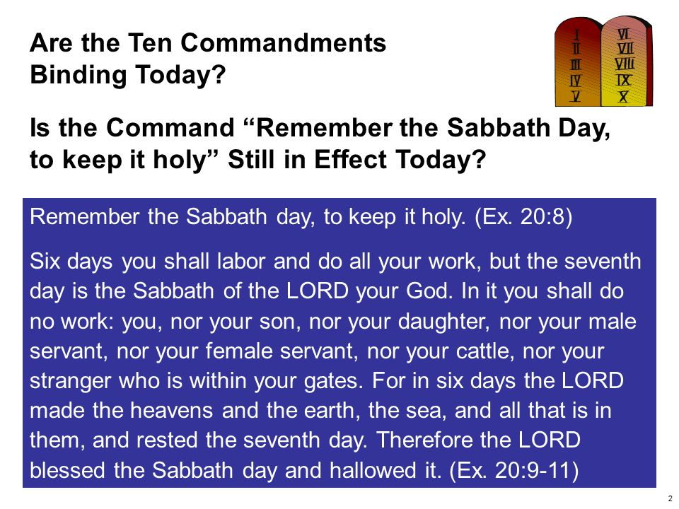 Are the Ten Commandments Binding Today