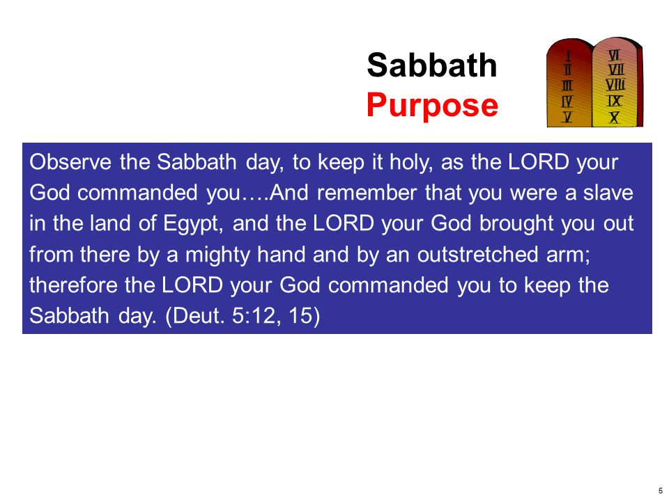 Sabbath Purpose.