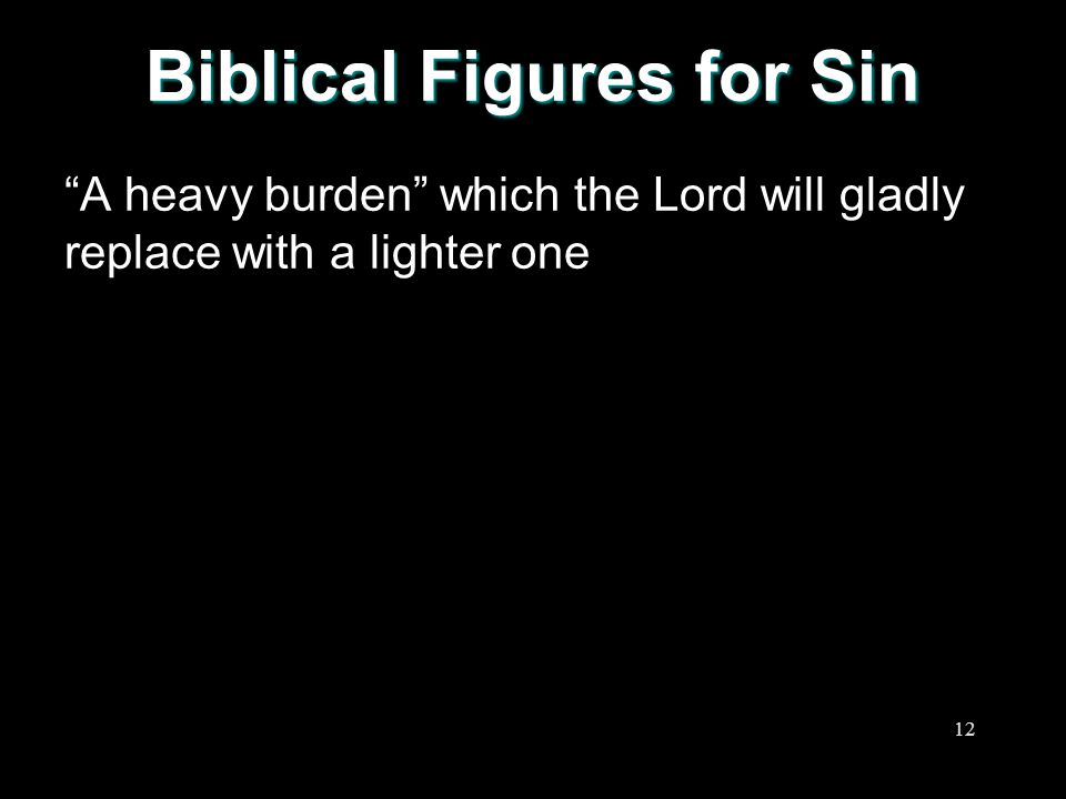 Biblical Figures for Sin