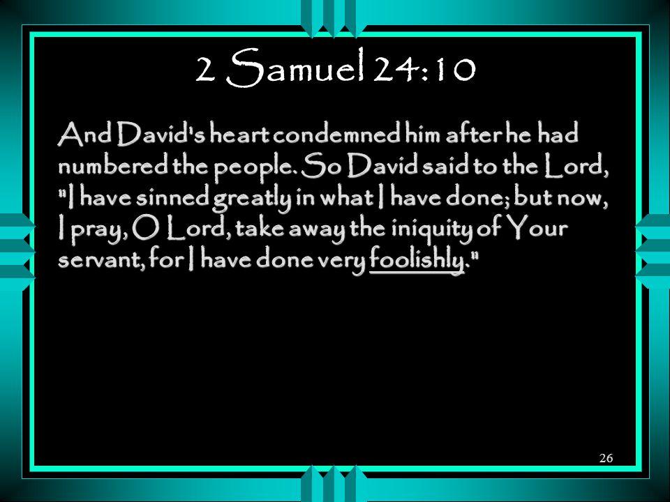 2 Samuel 24:10