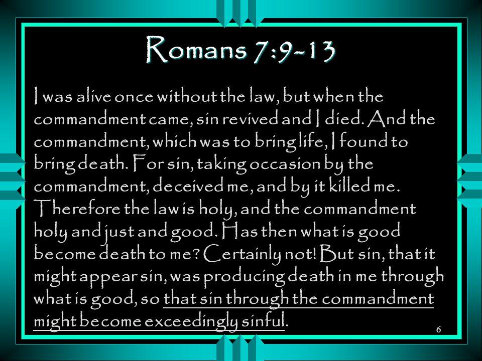 Romans 7:9-13