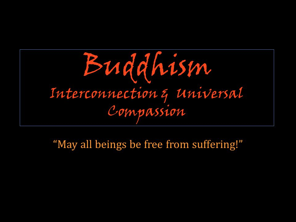 Buddhism Interconnection & Universal Compassion