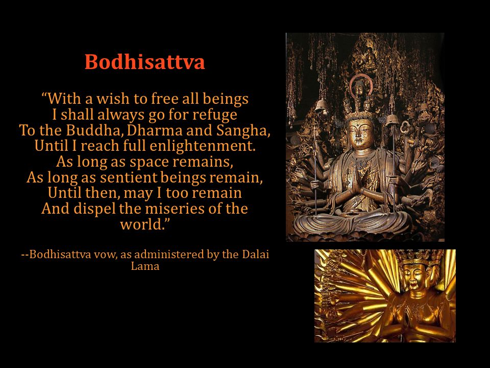 Bodhisattva With a wish to free all beings