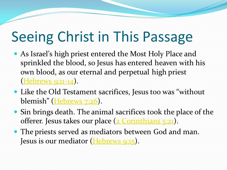 Seeing Christ in This Passage