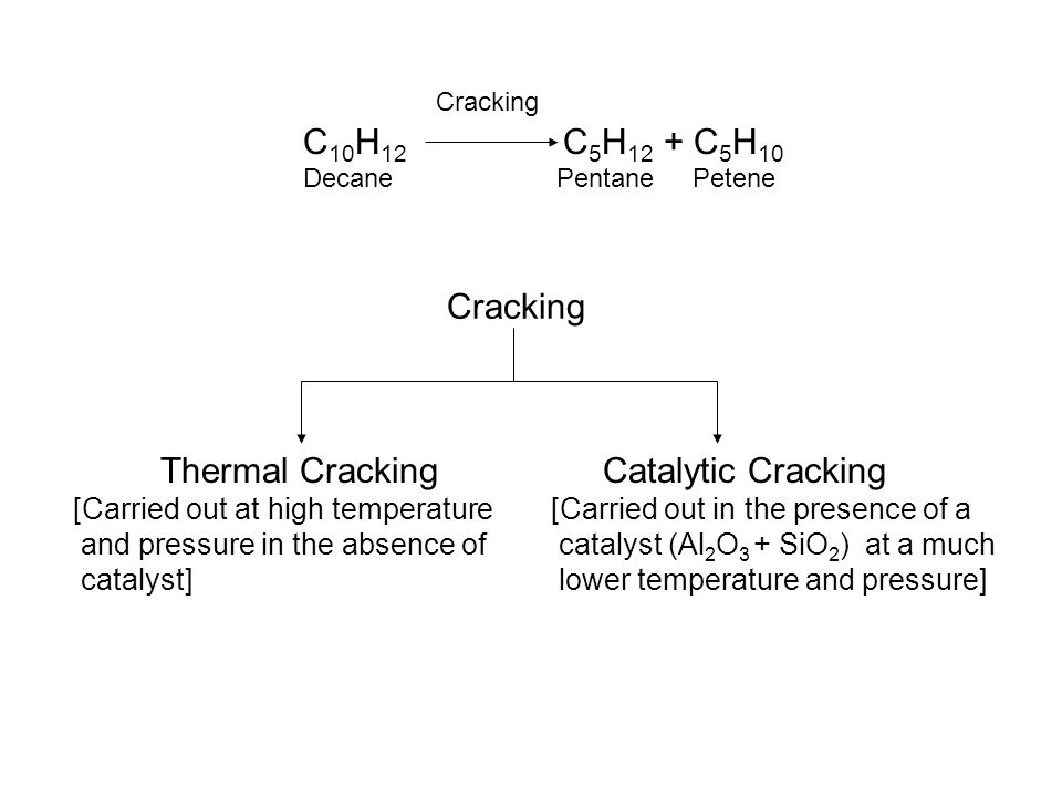 C10H12 C5H12 + C5H10 Cracking Thermal Cracking