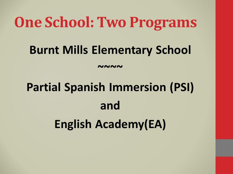 One School: Two Programs