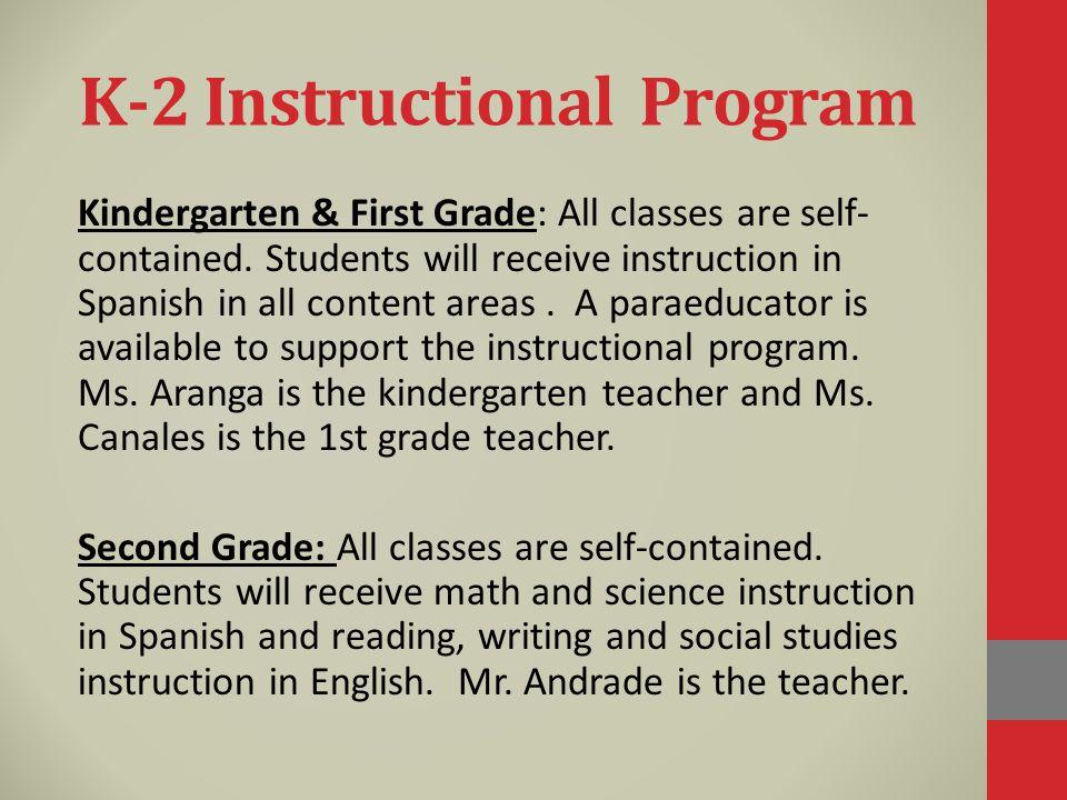 K-2 Instructional Program